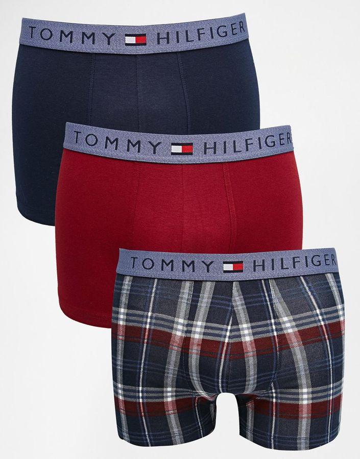 Tommy Hilfiger Sidder Trunks In 3 Pack