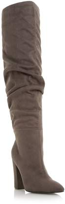 Head Over Heels Sesily Ruched Over The Knee Boots