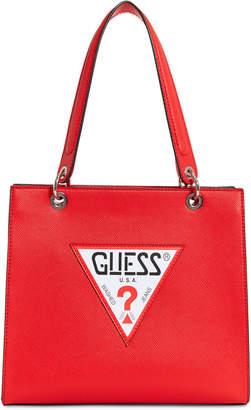 GUESS Varsity Pop Logo Tote