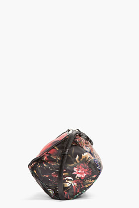 Givenchy Black Multicolor Patchwork Print Leather Mini Pandora Bag