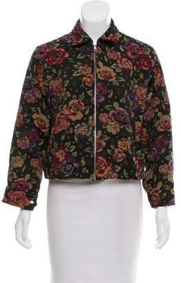Hache Floral Jacquard Jacket w/ Tags