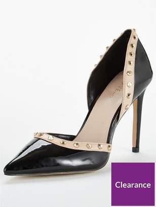 Carvela Kosmic Two Part Fierce Stud Court Shoe - Black