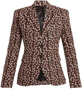 Eckhaus Latta Floral-print wool-blend corduroy blazer