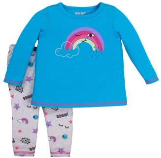 Little Star Organic Newborn Baby Girl Long Sleeve Top & Legging 2pc Outfit Set