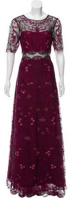 Marchesa Embroidered Evening Dress