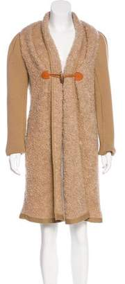 Philosophy di Alberta Ferretti Mohair-Blend Coat