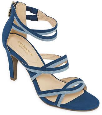 0e304cf52bd Liz Claiborne Womens Chandra Heeled Sandals