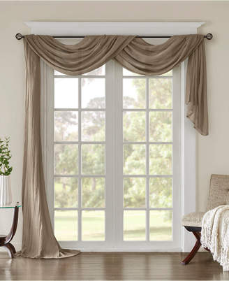 """Madison Home USA Harper 42"""" x 216"""" Solid Crushed Sheer Scarf Valance"""