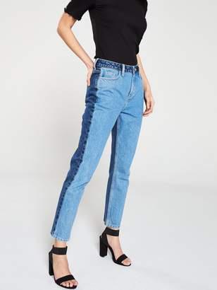 Very Colour Block Straight Leg Jeans