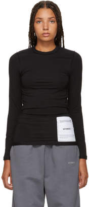 Vetements Black Fitted Inside Out Long Sleeve T-Shirt