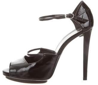 Balenciaga Ankle Strap Cutout Sandals