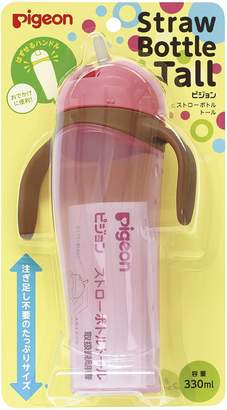 Pigeon 'Tall' Baby Training Drinking Cup Straw Bottle BPA Free for 9 Months+ (Pink)