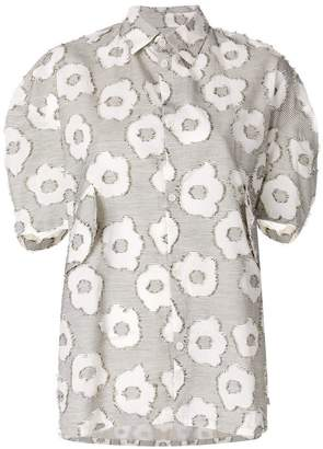 Henrik Vibskov I Love You 2 shirt with fringy flowers