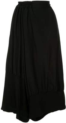 Y's wide leg cropped trousers