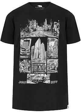 Badrhino Mens Tokyo Print T-shirt