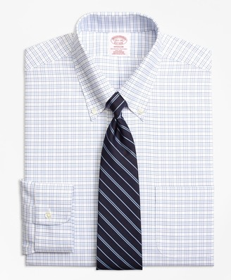 Brooks Brothers BrooksCool Madison Classic-Fit Dress Shirt, Non-Iron Triple Windowpane