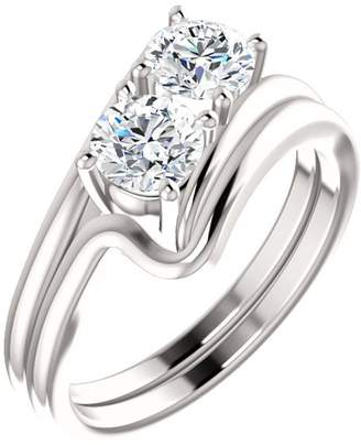 South Beach Diamonds 0.66 ct Ladies Round Cut Diamond Enaement Rin New in Platinum In Size 12.5