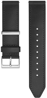 Rebecca Minkoff Silver Tone Leather Strap, 20Mm