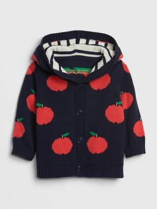 Gap Baby Brannan Bear Garter Apple Sweater