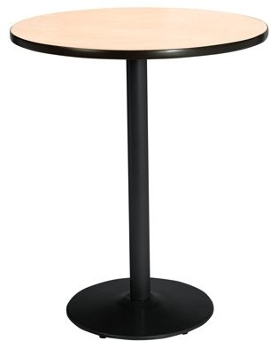 """KFI seating KFI 42"""" Round Pedestal Table with Multiple Colors\' Top, Round Black Base, Bistro Height"""