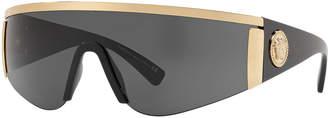 Versace Men's Plastic Shield Sunglasses with Metallic Trim