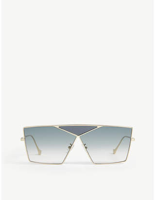 LW40011U Puzzle irregular-frame sunglasses
