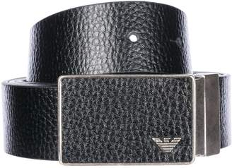 Emporio Armani Adjustable Length Reversible Leather Belt