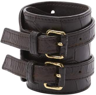 Bottega Veneta Brown Leather Bracelets