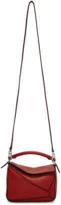 Loewe Red Mini Puzzle Bag