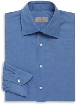 Canali Textured Cotton Long Sleeve Shirt
