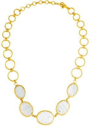 Gurhan 24K Aquamarine Collar Necklace