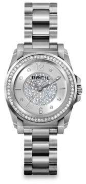 Breil Milano Manta Crystal& Stainless Steel Bracelet Watch