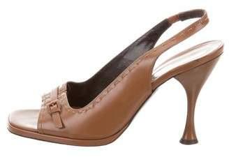 Via Spiga Leather Slingback Sandals