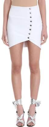 IRO Clefa Leather Button-up Mini Skirt