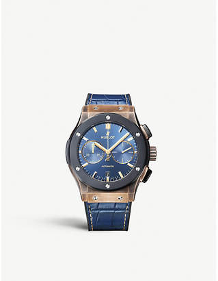 Hublot 521.BM.7180.LR.BUC18 Classic Fusion Bronze Bucherer BLUE EDITIONS bronze, titanium and alligator leather watch
