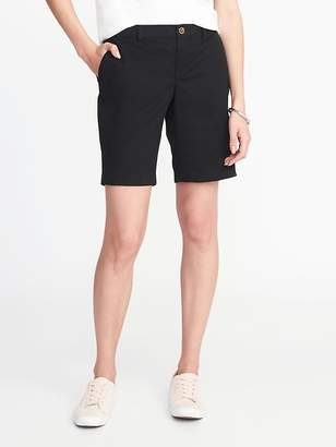 Old Navy Mid-Rise Everyday Twill Shorts For Women - 9 inch inseam