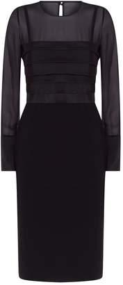 Max Mara Panelled Long Sleeve Dress