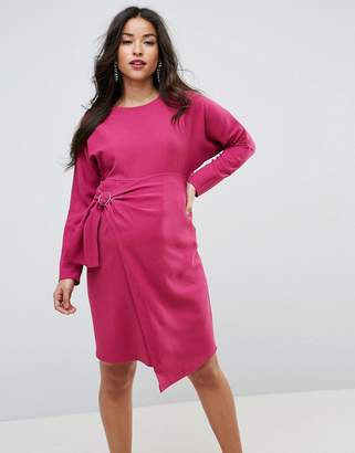 Asos Batwing Mini Dress with Wrap Skirt