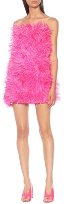 ATTICO The Feather-trimmed minidress