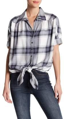 Karen Kane Plaid Knot Shirt