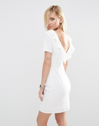 ASOS Ruffle Back Mini Dress $65 thestylecure.com