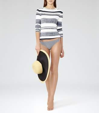 Reiss Jourdan Stripe T Bikini Top