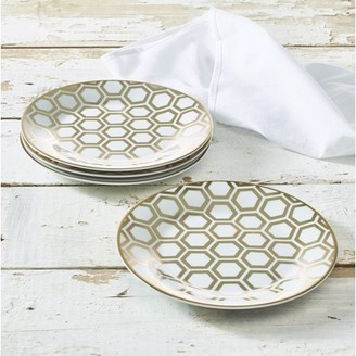 """Beehive Collection Porcelain 7.5"""" Side Plate 4-Pack, Walmart Exclusive"""