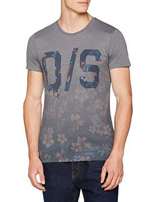 S'Oliver Q/S designed by Men's 40.804.32.8411 T-Shirt, (Black Grey 9897), S