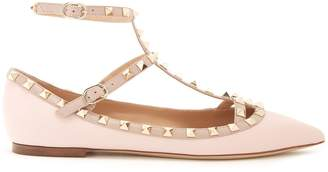 VALENTINO Rockstud leather flats $975 thestylecure.com