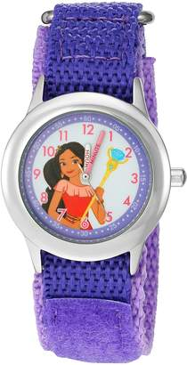 Disney Girl's 'Elena of Avalor' Quartz Stainless Steel and Nylon Automatic Watch, Color: (Model: W003035)