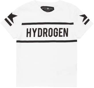 Hydrogen Kid Logo Printed Cotton Jersey T-Shirt
