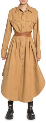 Stella McCartney Cotton Belted Maxi Shirtdress