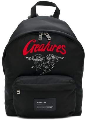 Givenchy creatures motif backpack