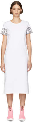 Kenzo White Logo Sport T-Shirt Dress